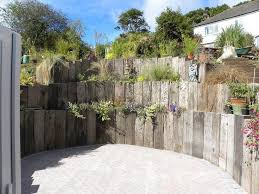 22 best wall ideas images on pinterest railway sleepers garden