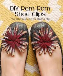 diy pom pom shoe clips the kim six fix