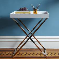 serving tray side table tall butler tray stand west elm