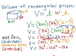 Volume Of Rectangular Prism Worksheet Volume Of Rectangular Prism With Polynomial Expressions Math