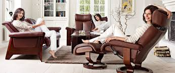 Low Back Leather Sofa Ekornes Stressless Wizard Low Back Sofa Loveseat Chair And