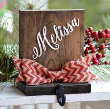 personalized stocking holder wood stocking holder for mantle top
