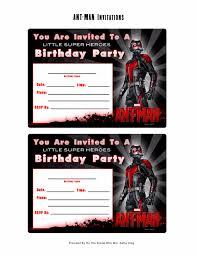 free marvel ant man printable birthday invitation templates
