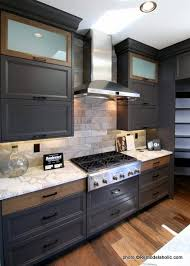 navy blue kitchen cabinets with black handles remodelaholic 40 beautiful kitchens with gray kitchen cabinets