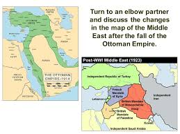 middle east map changes the fall of the ottoman empire and conflict in sw asia ppt