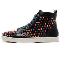 men u0027s studded studs spikes leather sneakers ab1804 u2013 aibarbie