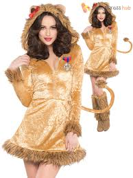 adults lion costume ladies lioness animal fancy dress circus