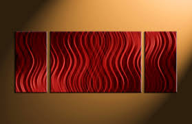 canvas painting for home decoration 3 piece red abstract canvas photography