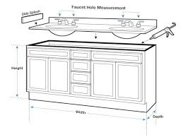 bathroom sink size kitchen sink dimensions for kitchen cabinets