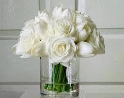 white floral arrangements floral arrangements etsy