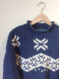 snowflake sweater vintage wool snowflake sweater roots canada