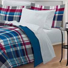 Twin Plaid Bedding by Modern Plaid Red Blue Striped Teen Boy Bedding Twin Xl Bed In A