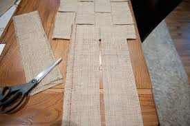 Extra Wide Table Runners A Beautifully Woven Burlap Table Runner Diy Tutorial Fab You Bliss