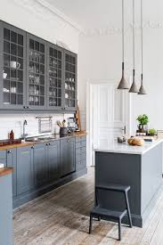 Gray Shaker Kitchen Cabinets Kitchen With Gray Cabinets Kitchen Decoration