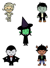 Halloween Monsters For Kids by Clipart Classic Halloween Monsters Colour