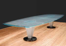 Glass Top Conference Table Boat Shape Conference Table Glass Conference Table Boat Shaped