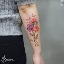 delicate floral tattoo designs by tattooist silo page 2 of 2