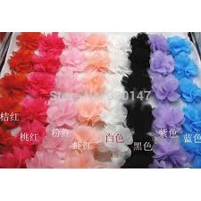 flowers for headbands 100pcs lot chiffon flowers for headbands wedding decoration fabric