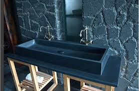 black stone bathroom sink double bathroom sink black granite stone trough looan shadow