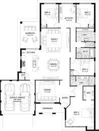 large single house plans bedroom standard 4 bedroom house plans 4 bhk single floor house
