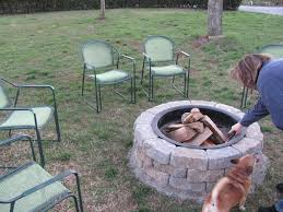Large Fire Pit Ring by Joyous Lowes Fire Pit As Wells As Metal Chairs And Outdoor Design