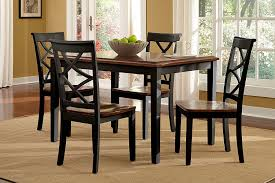 5 piece dining room sets amazon com powell 14d2041bl 5 piece harrison dining set black