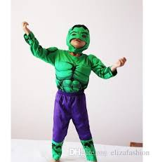 Halloween Costumes Hulk 2017 Super Heroes Hulk Muscle Suits Kids Boys Girls Halloween