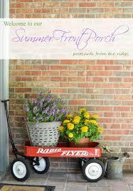 Front Porch Decor Ideas by Summer Front Porch Decor Procrastinator U0027s Tour Red Wagon