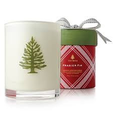 thymes frasier fir thymes frasier fir poured wood wick candle