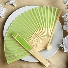 wedding fans favors balsacircle 50 pcs decorative silk fabric folding