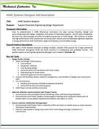 hvac resume examples resume hvac hvac technician resume sample creative resume design hvac installer job description for resume and hvac installer