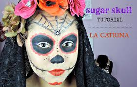 easy sugar skull makeup tutorial la catrina youtube