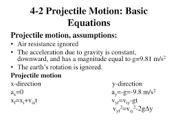projectile motion equations 2 relevant equations custom project