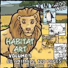 coloring pages of animals in their habitats animals in their habitat coloring page u0026 poster combo volume 1