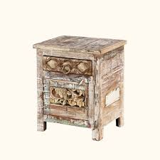 bedroom rustic reclaimed distressed wood nightstand with pattern