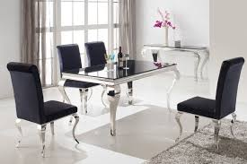 silver dining room silver dining table and chairs alluring decor elegant silver