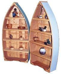 Canoe Shaped Bookshelf Rowboat Bookcase Canadian Woodworking Magazine