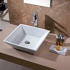 Luxier CS Bathroom Porcelain Ceramic Vessel Vanity Sink Art - Basin bathroom sinks