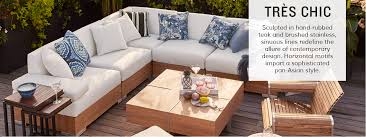 Asian Style Patio Furniture Tres Chic Outdoor Furniture Home Main