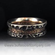 rustic mens wedding bands folsom rustic men s wedding band buffalo craft company llc
