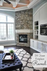 diy stone veneer fireplace ideas for fireplace ideas diy 11415