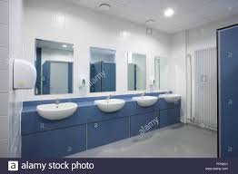 modern office bathroom modern office toilets and washroom stock photo 95733009 alamy