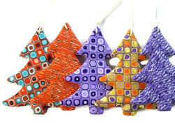 sale tree decoration set of 5 by angeladesign