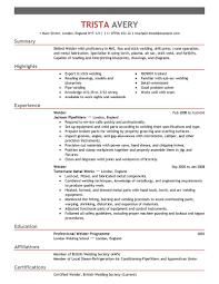 Mba Resume Example by Welder Resume Summary Virtren Com