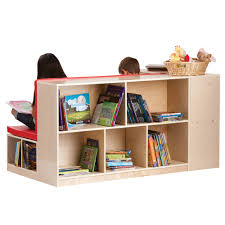 guidecraft modular library storage and bench g6475