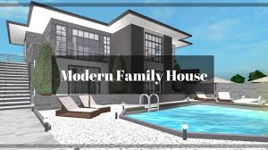 modern family house roblox bloxburg modern family house 91k youtube
