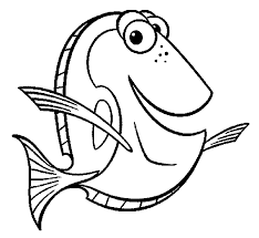 finding nemo dory coloring pages kids dcs printable finding