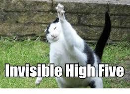 High Five Meme - invisible high five meme on me me