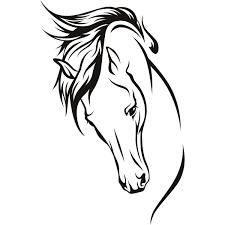 horse head clip art color