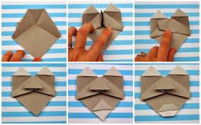 Paper Craft Steps - make origami faces pink stripey socks